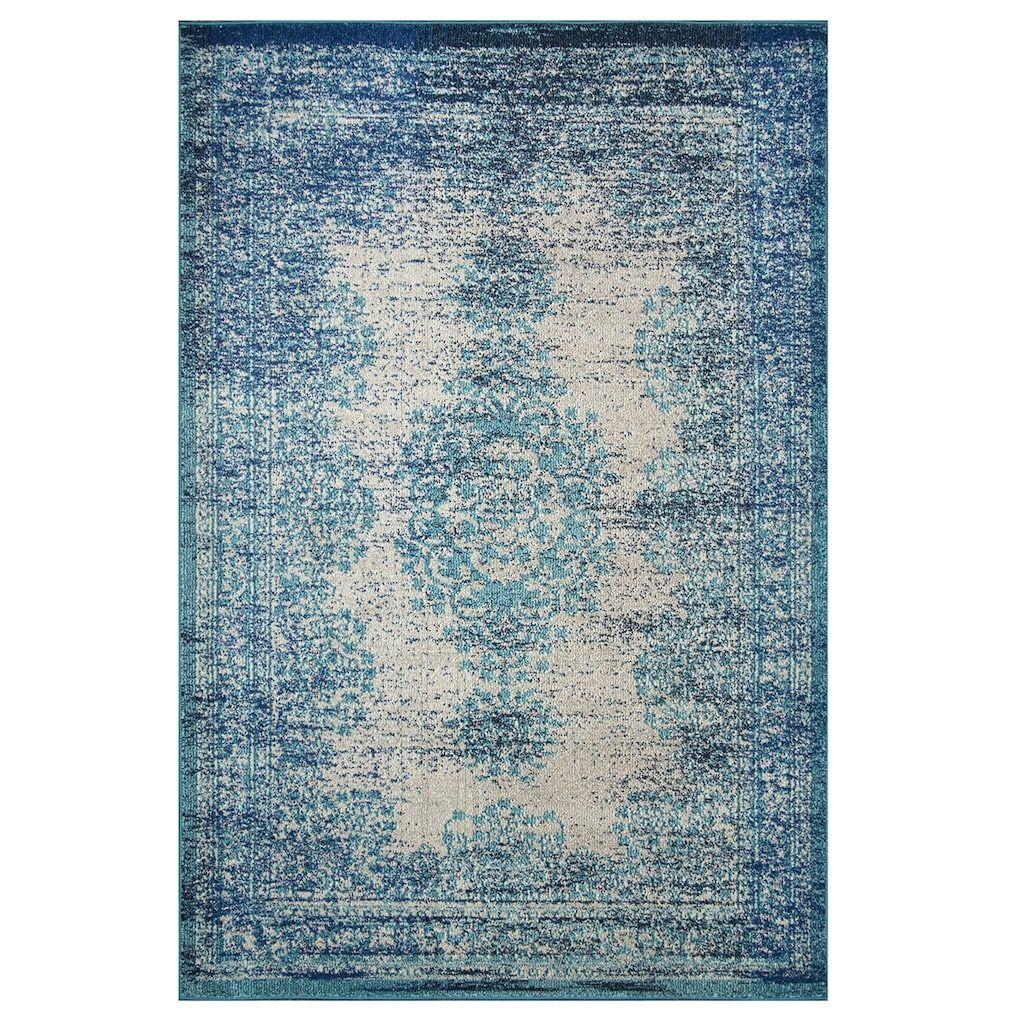 Nuloom Vintage Moriah Distressed Rug Blue Vintage Area Rugs