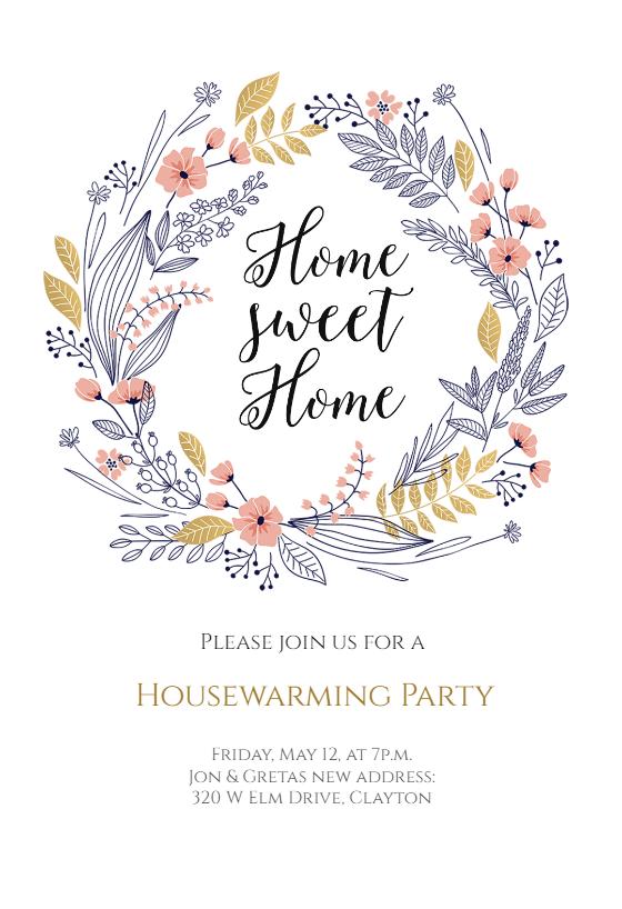 Fresh Start Housewarming Invitation Template (Free
