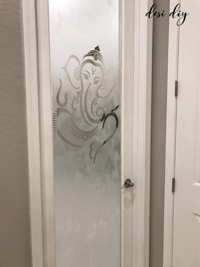 Etched Glass Pooja Room Door Desidiy Door Glass Design Pooja Room Door Design Room Door Design
