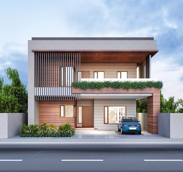 Exterior design by fusion studio architecture and for Row house exterior design ideas