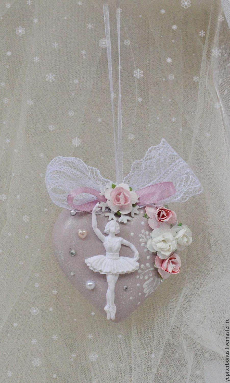 """Купить Елочные подвески """"Балет"""" - бледно-розовый, розовый, подвески, елочные игрушки, елочные украшения"""