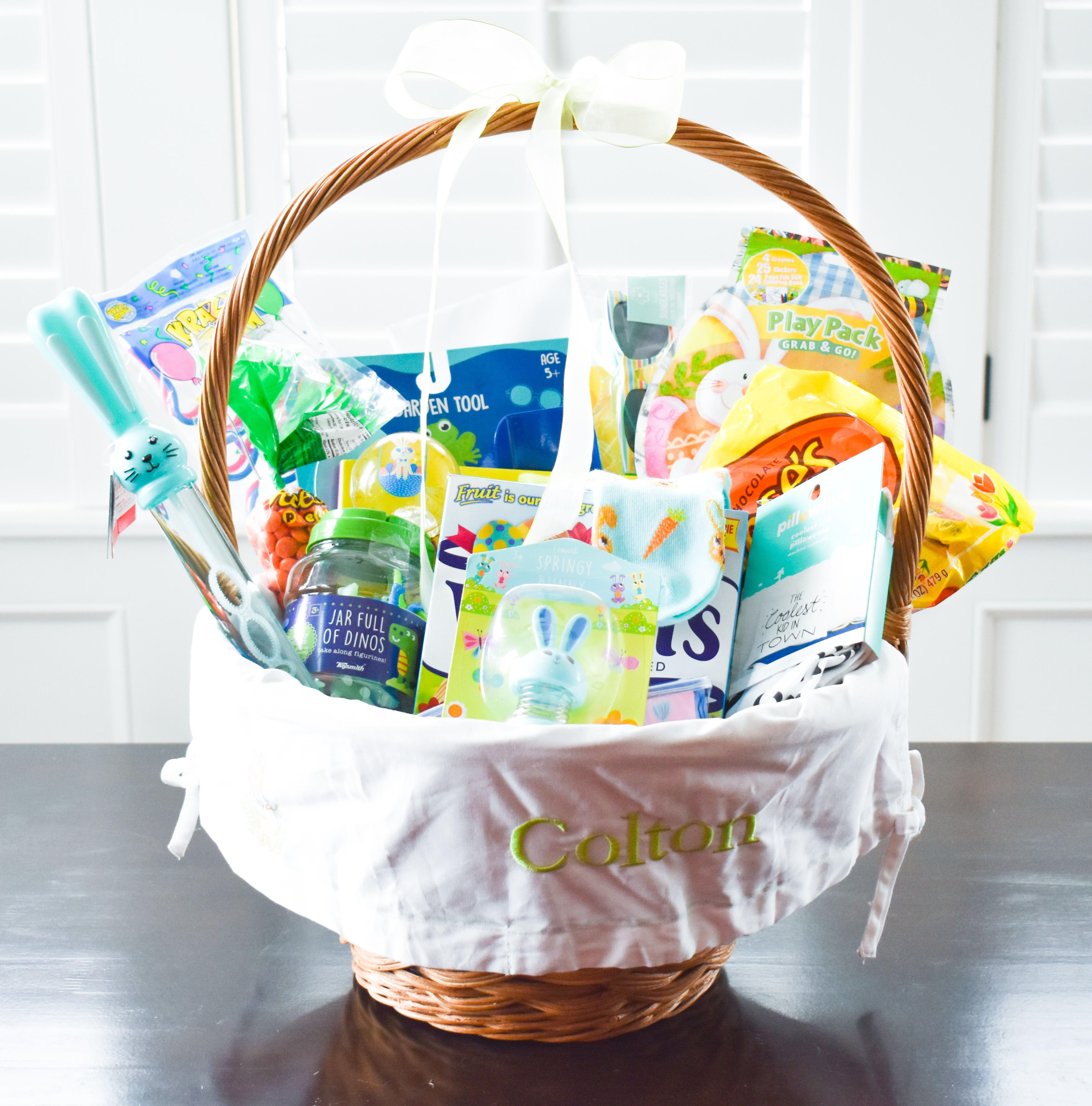 Easter Basket Ideas For 2 Year Old Boys Covet By Tricia Easter Baskets Boys Easter Basket Toddler Easter
