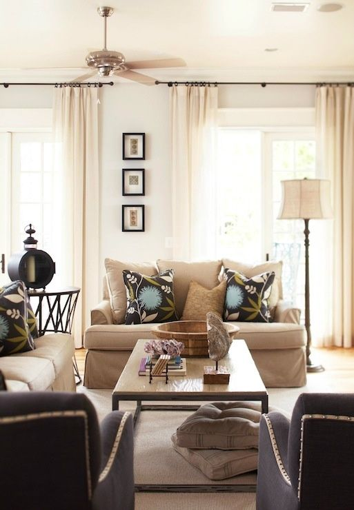 Functional Living Room Layout And I Like The Dark Chairs With The