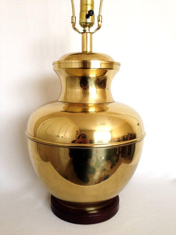 Vintage Brass Urn Lamp Hollywood Regency Lamp Chinoiserie Ginger Jar Lamp Vintage Lamps Bedroom Redesign Table Top Lamps