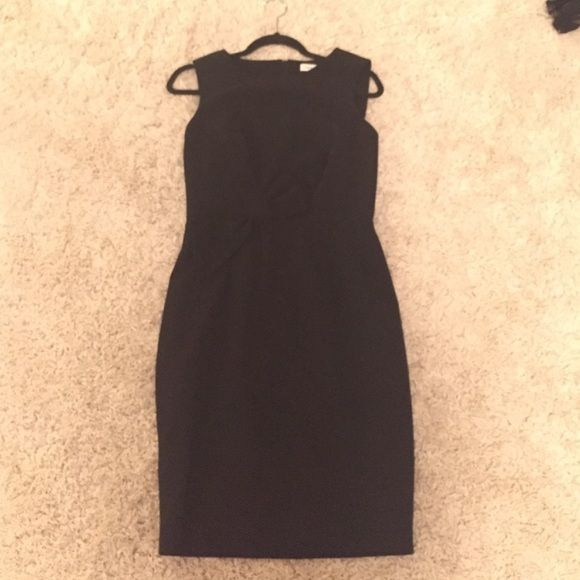 "Calvin Klein dress from Nordstrom Professional work dress, black, good cotton feel weight, classy bow design, I'm 5'5"", lands 2"" below knees, wore once, a little too big for me, it's supposed to be fitted, perfect for a size 6. Calvin Klein Dresses Midi"