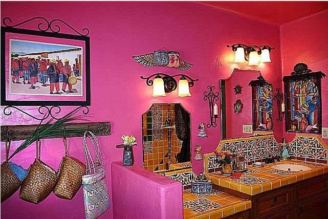 Mexican Tile Bathroom Home Decor Gallery Mission Accesories Copper Sinks Mirrors Tables And