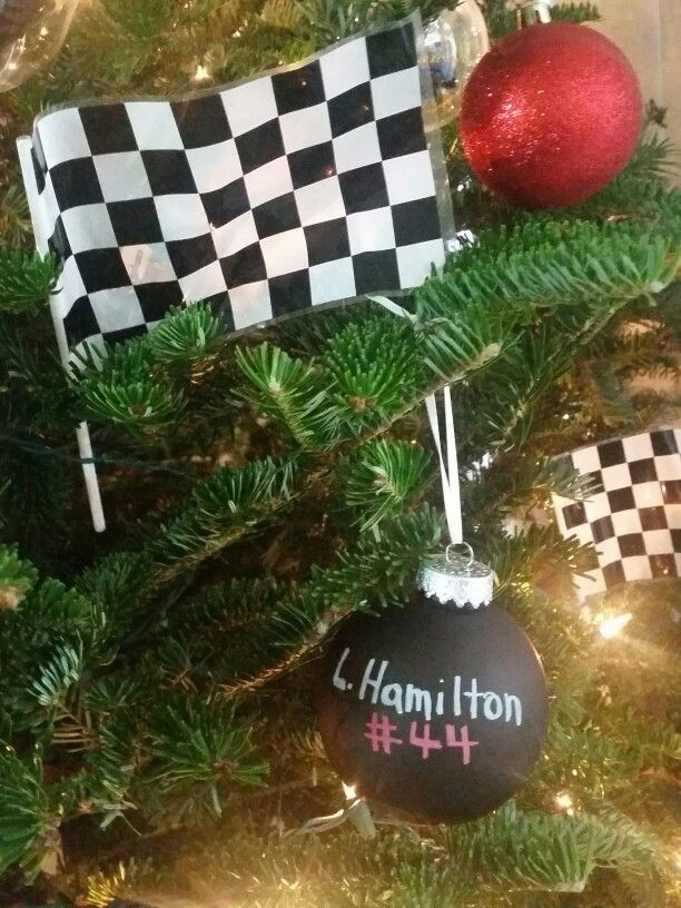 Lewis hamilton ornament | formula one racing christmas tree ...