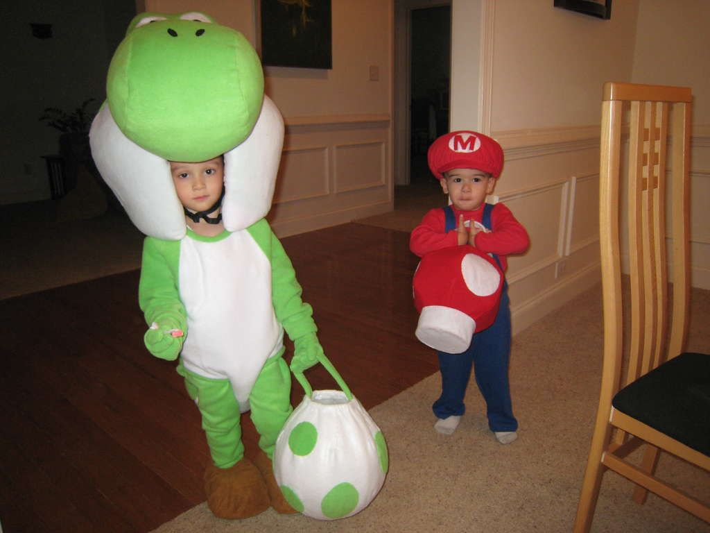 Yoshi Mascot and Baby Mario Costumes for Toddlers | Halloween ...