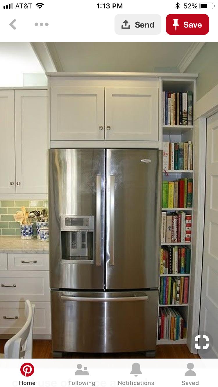 Pin By Marlene Rodriguez On Remodeling Kitchen Bookshelf Home Kitchens Cookbook Storage