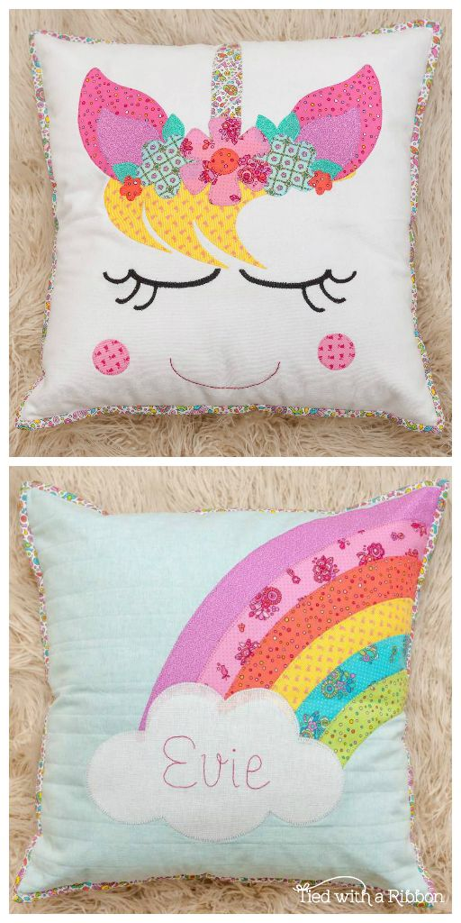 Unicorn Dreams Pillow Set PDF Pattern | Appliqué Ideas | Pinterest on crochet pillow ideas, fall pillow ideas, wuilted pillow ideas, sewing pillow ideas, needle felted pillow ideas, chenille pillow ideas, patchwork pillow ideas, diy pillow ideas, trapunto pillow ideas, easter pillow ideas, christmas pillow ideas, button pillow ideas, handmade pillow ideas,
