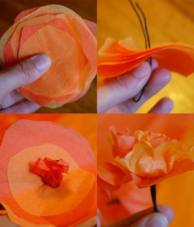Celebrate day of the dead with a festive homemade necklace pretty tissue paper marigolds by alphamom mightylinksfo