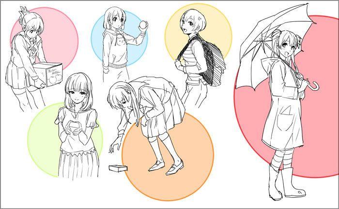 キャラクターがいきいきとするポーズが描ける 立ち絵が上手くなる方法 イラストの描き方 ポージングに困ったら 持つ 動作を描いてみよう Drawing Better Standing Characters Illustration Tutorial When You Feel 立ち絵 絵 立ち絵 ポーズ