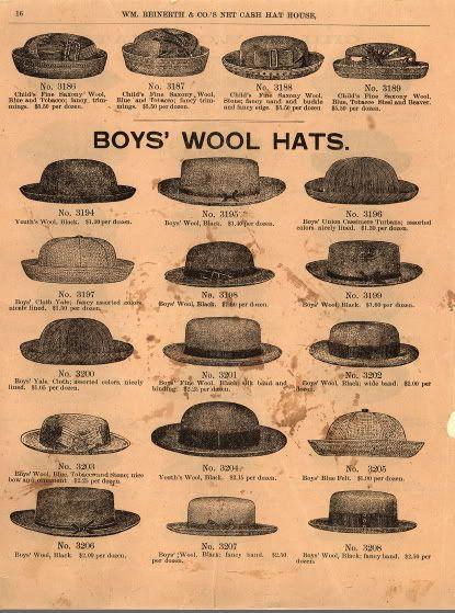 412d543fda2 Boy s hats 1860 s Visual Dictionary