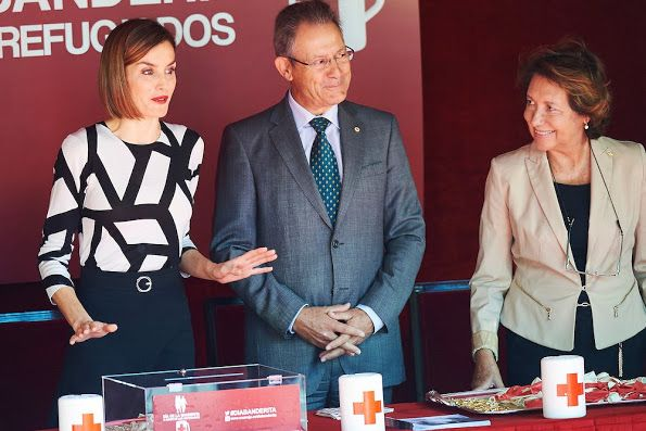 Queen Letizia of Spain attends the Red Cross Fundraising Day at the Congress of Deputies on Little Flag Day (Fiesta de la Banderita) on October 2, 2015 in Madrid, Spain.