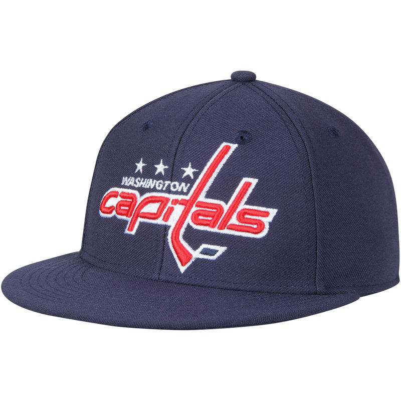 detailed look e0bf7 d4fea Washington Capitals adidas Basic Fitted Hat - Navy