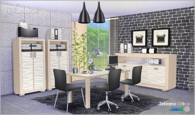 sims zebrano office at simcredible designs 4