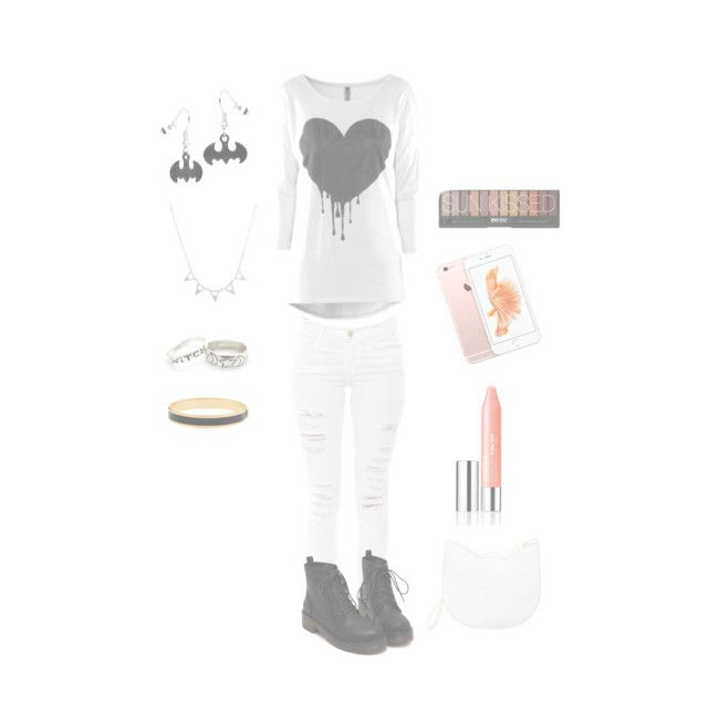 """""""Fall outfit #13"""" by xxx5saucexxx ❤ liked on Polyvore featuring mode, Frame Denim, Forever 21, Clinique en Halcyon Days"""