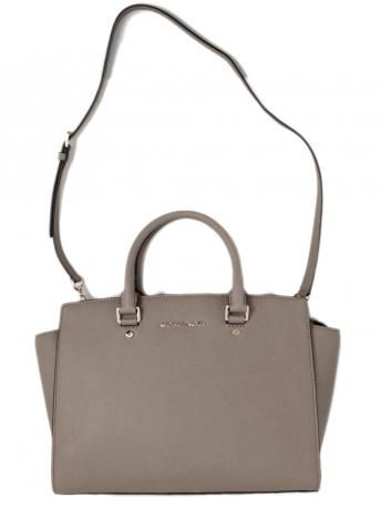 24ef20dff67eb Michael Kors Selma dark dune satchel bag. Leather tote bag in sand color  from Micheal Kors