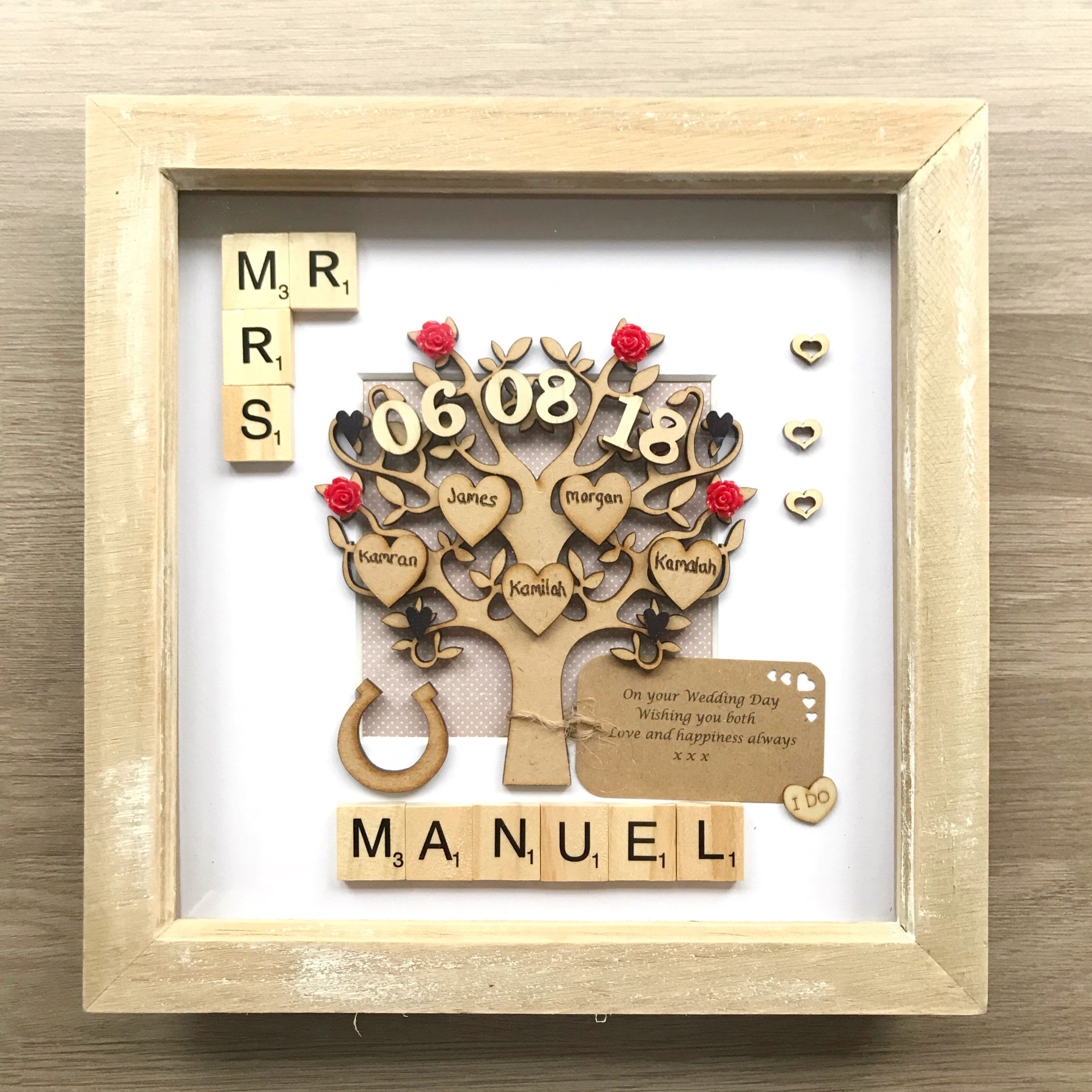 Wedding Gift And Family Tree In One Wedding Gift Present