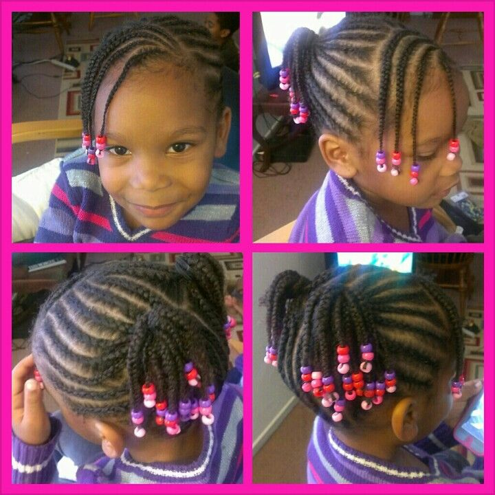 Kids Cornrow Style Natural Hair Girls Cornrow Hairstyles Hair