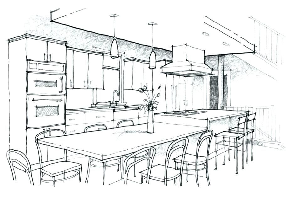 Image result for kitchen sketches