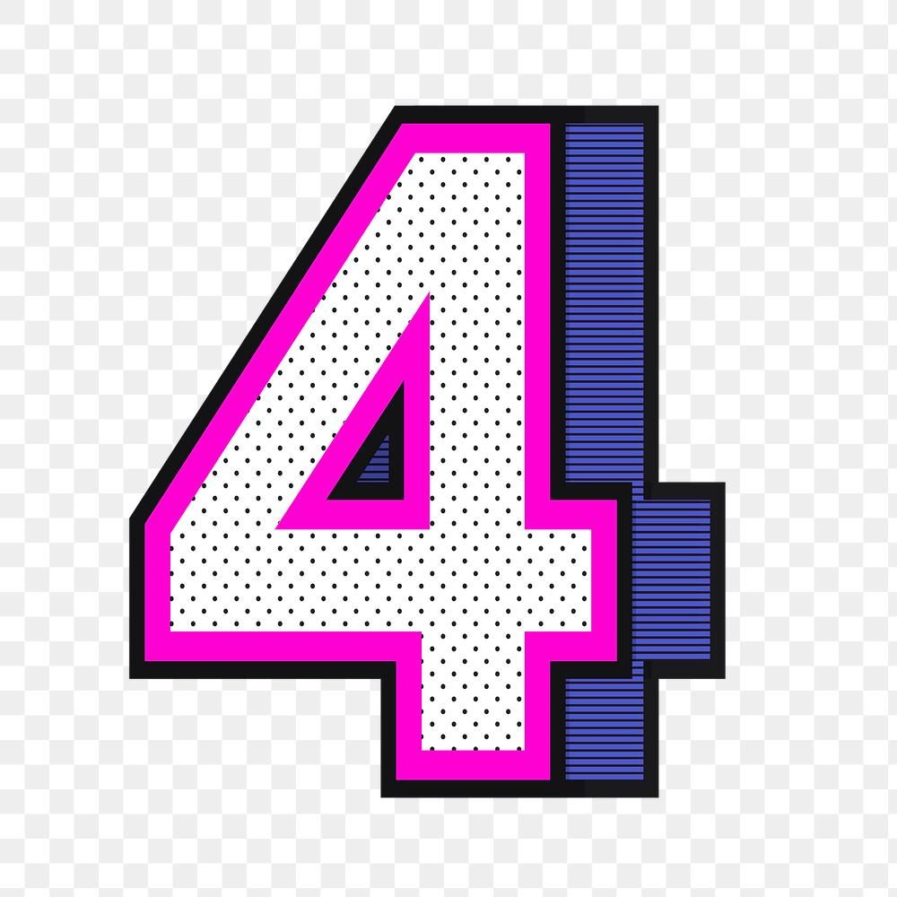 3d Number 4 Png Isometric Halftone Style Typography Free Image By Rawpixel Com Wan Halftone Typography Isometric