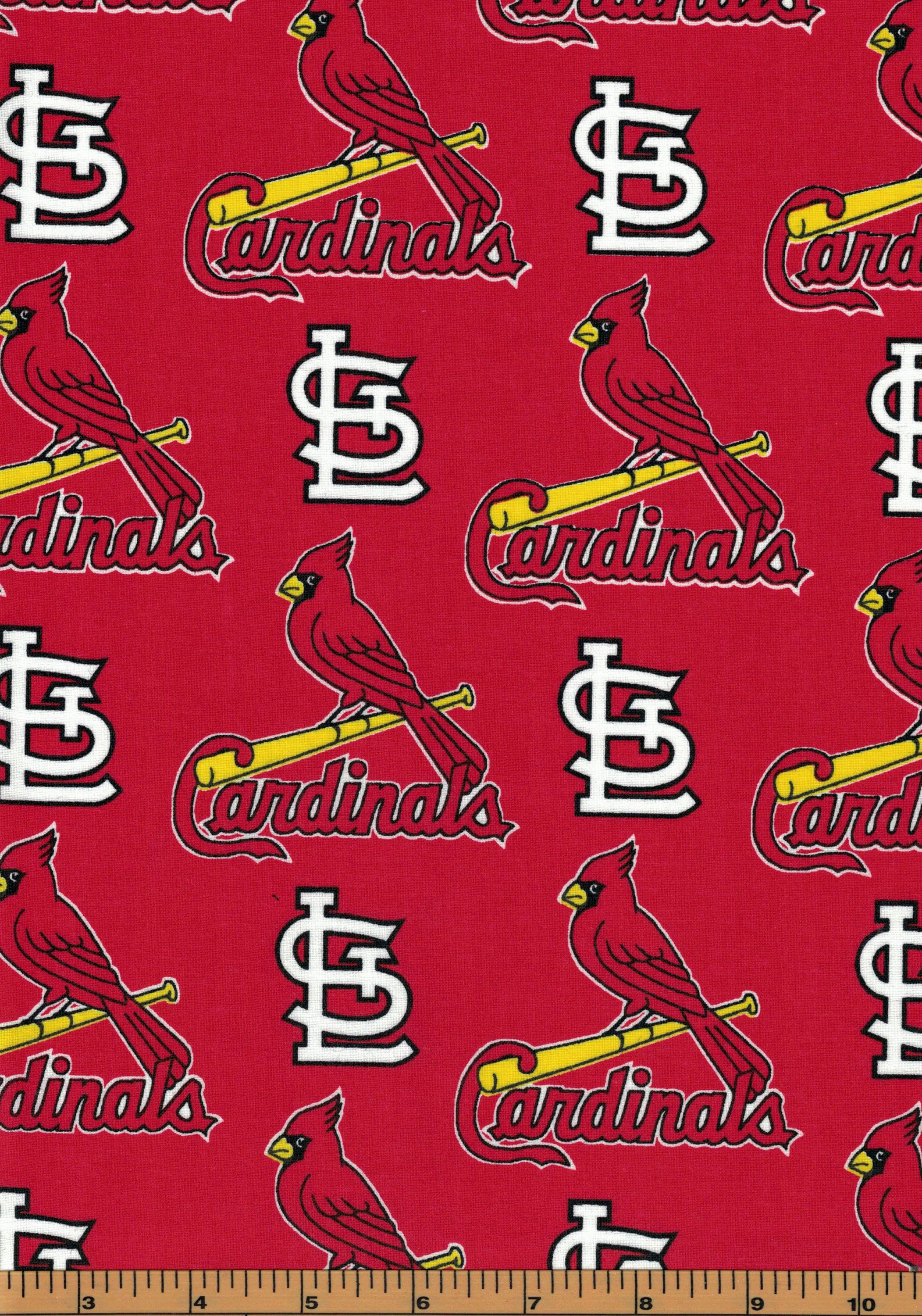 size 40 8be5e c35bd St. Louis Cardinals Baseball Fabric- MLB - 100% Cotton High Quality Fabric-  by Fabric Traditions by QuiltsOnTheFly on Etsy