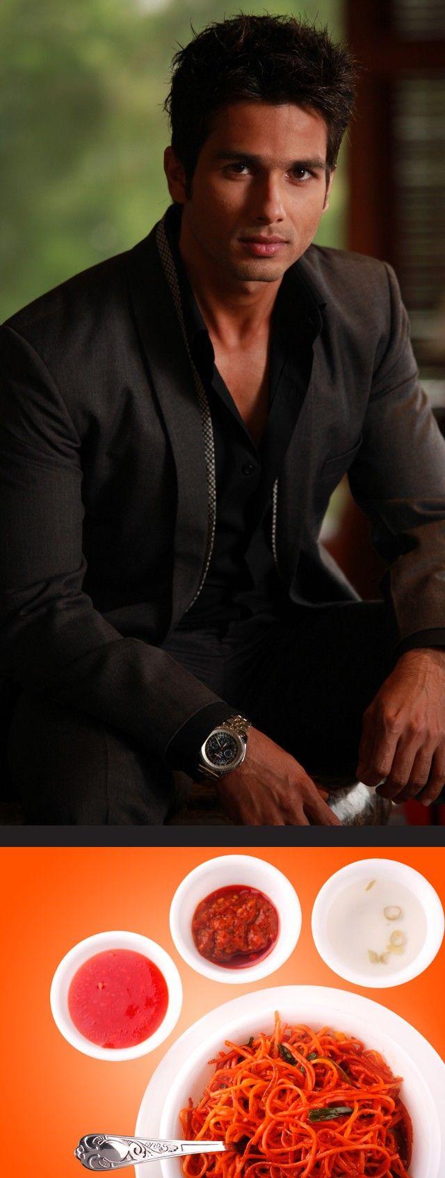 Italian Hotties Delightful shahid kapoor is a fan of chinese and italian cuisine. #bollywood
