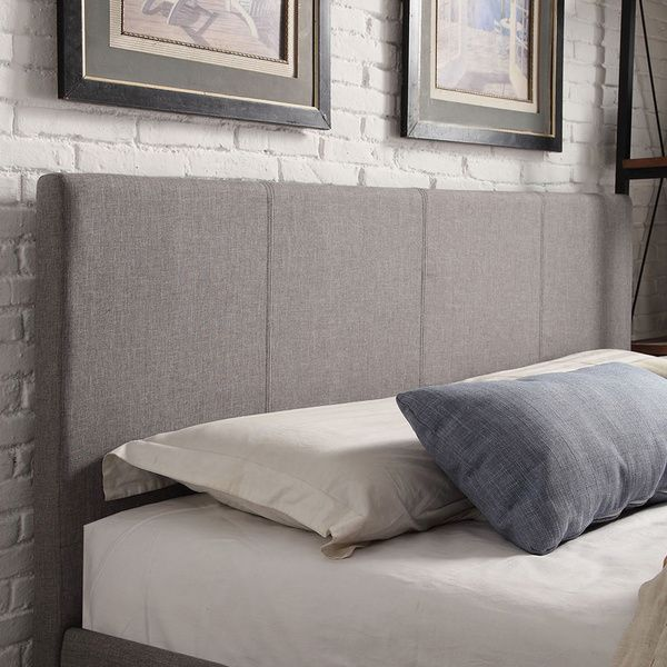 Queen Size Grey Linen Square Panel Headboard | Cabeceras | Pinterest