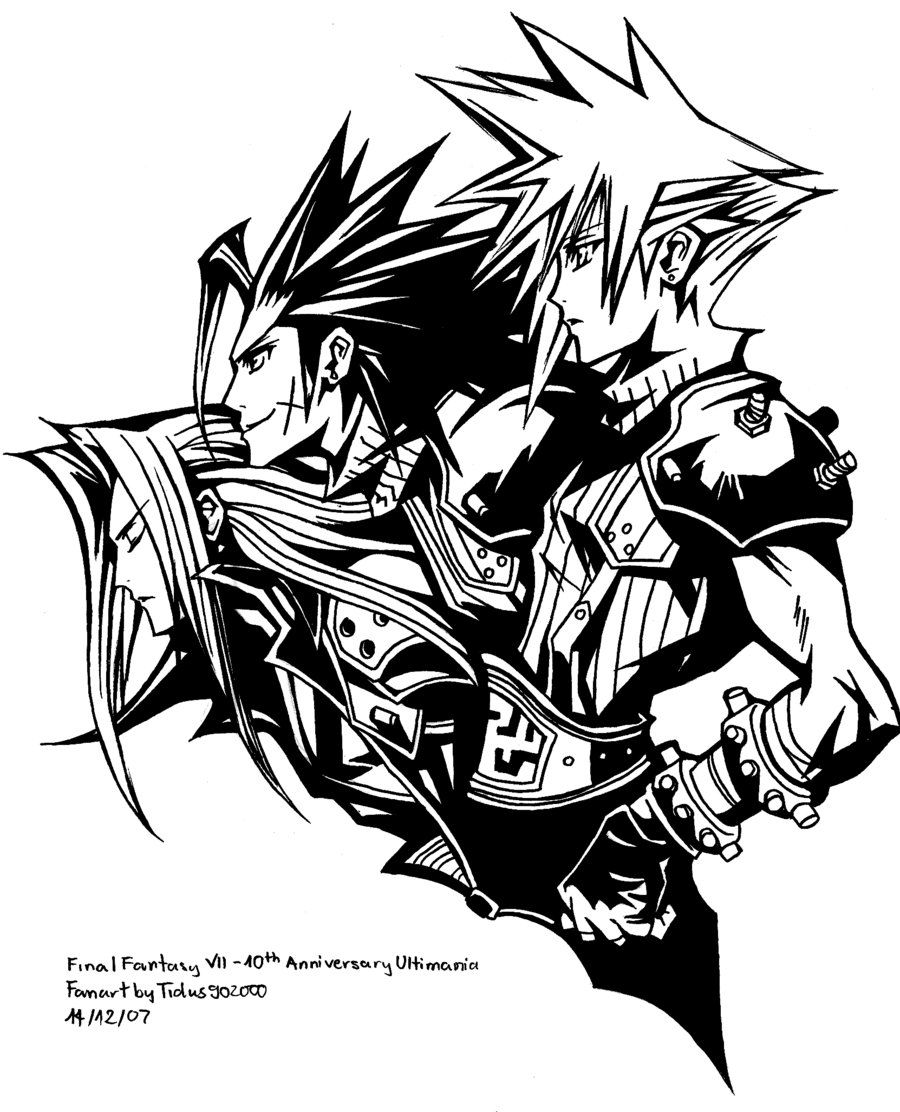 Final fantasy coloring pages pictures imagixs for Final fantasy coloring pages