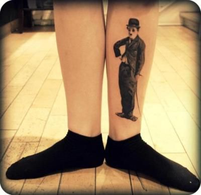 clever tat charlie chaplin ink pinterest tatting tattoo and body art. Black Bedroom Furniture Sets. Home Design Ideas