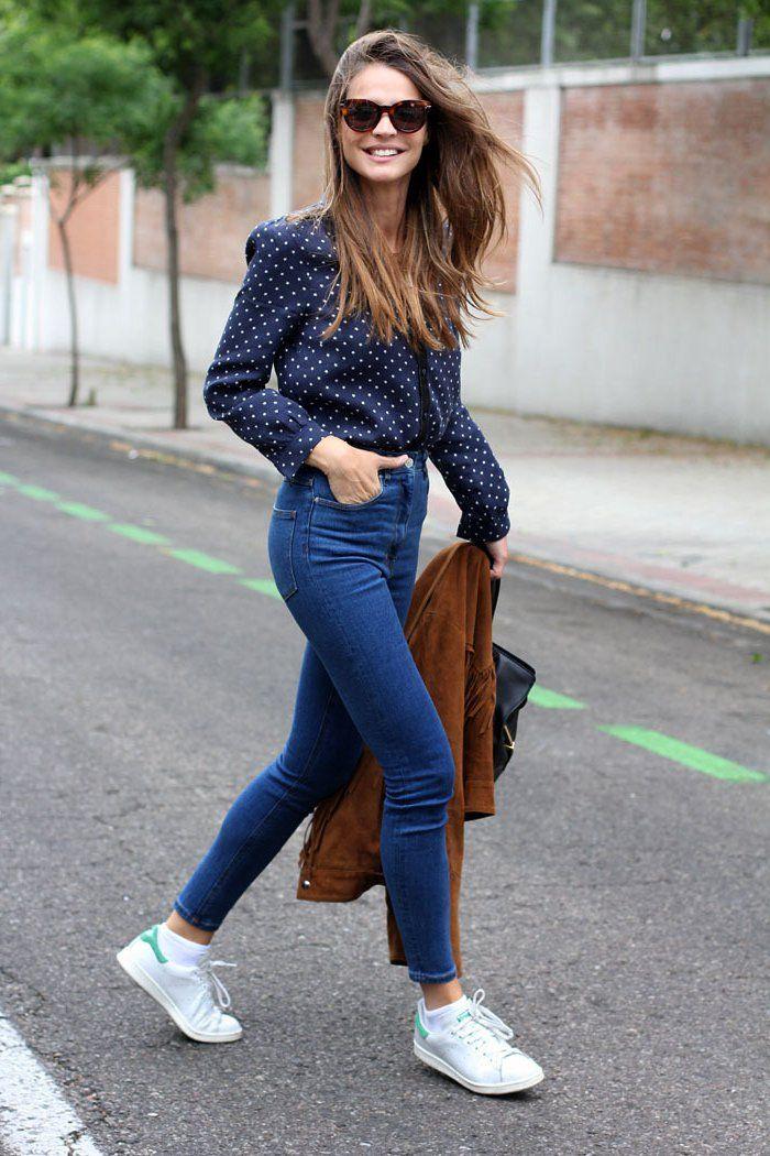 1001 id es comment porter des stan smith chaque jour mode mode jeans et jeans femme. Black Bedroom Furniture Sets. Home Design Ideas