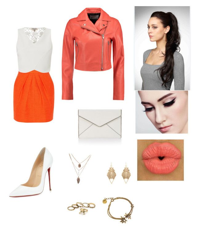 """""""feeling orange"""" by chinapowell ❤ liked on Polyvore featuring Tamara Mellon, Lipsy, T By Alexander Wang, Rebecca Minkoff, Christian Louboutin and Charlotte Russe"""