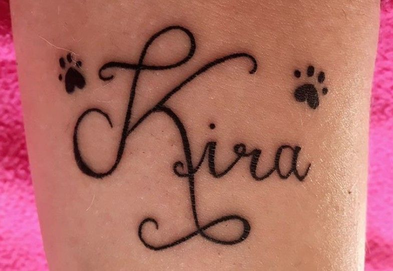 20 Best Dog Name Tattoo Designs The Paws Dog Memorial Tattoos Memorial Tattoos Memorial Tattoo