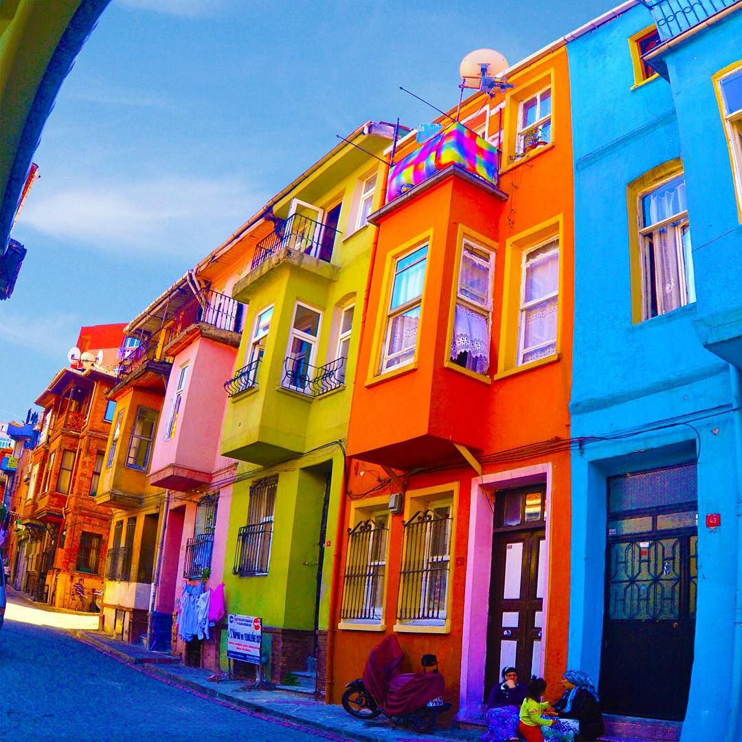 Colorful Buildings: Colorful Houses / Fener,Balat,Istanbul.. .... By Altug