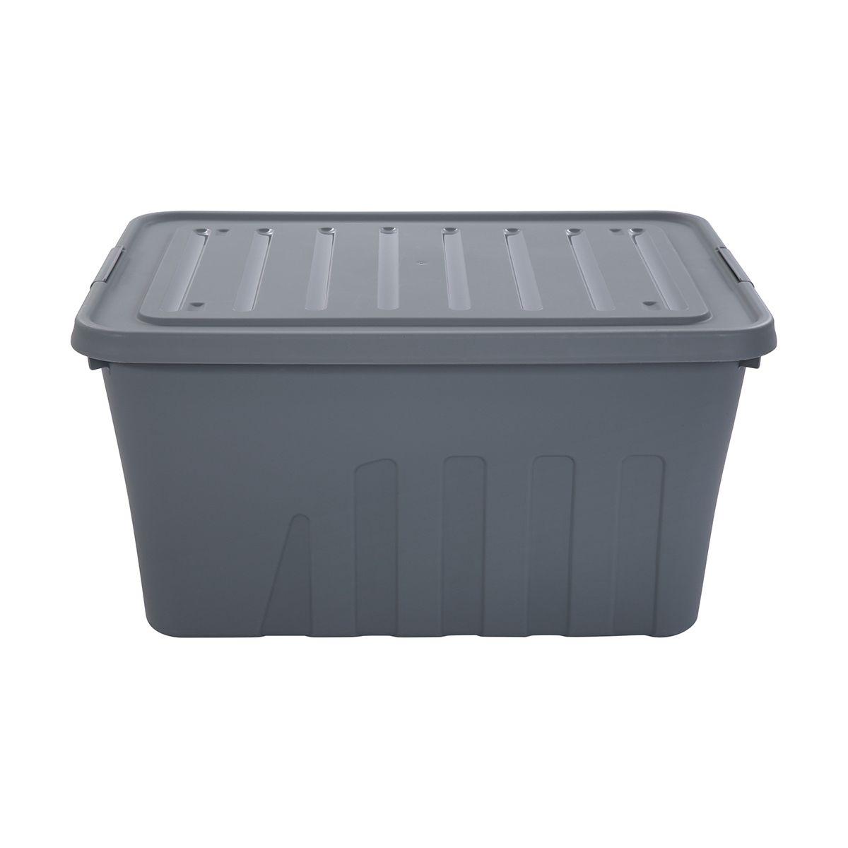 60l Storage Container On Wheels Kmart Storage Storage And Organization Storage Containers