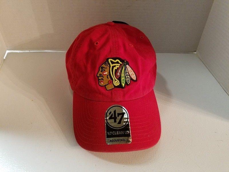 d0583b5cce5 Chicago Blackhawks Hockey Ball Cap Hat Adjustable NHL 47 Brand  47   ChicagoBlackhawks