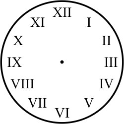 a roman numeral clock stamp great for teaching how to tell time