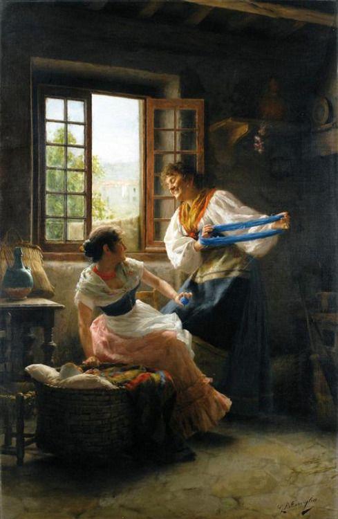 The Wool Winders Giovanni Battista Torriglia