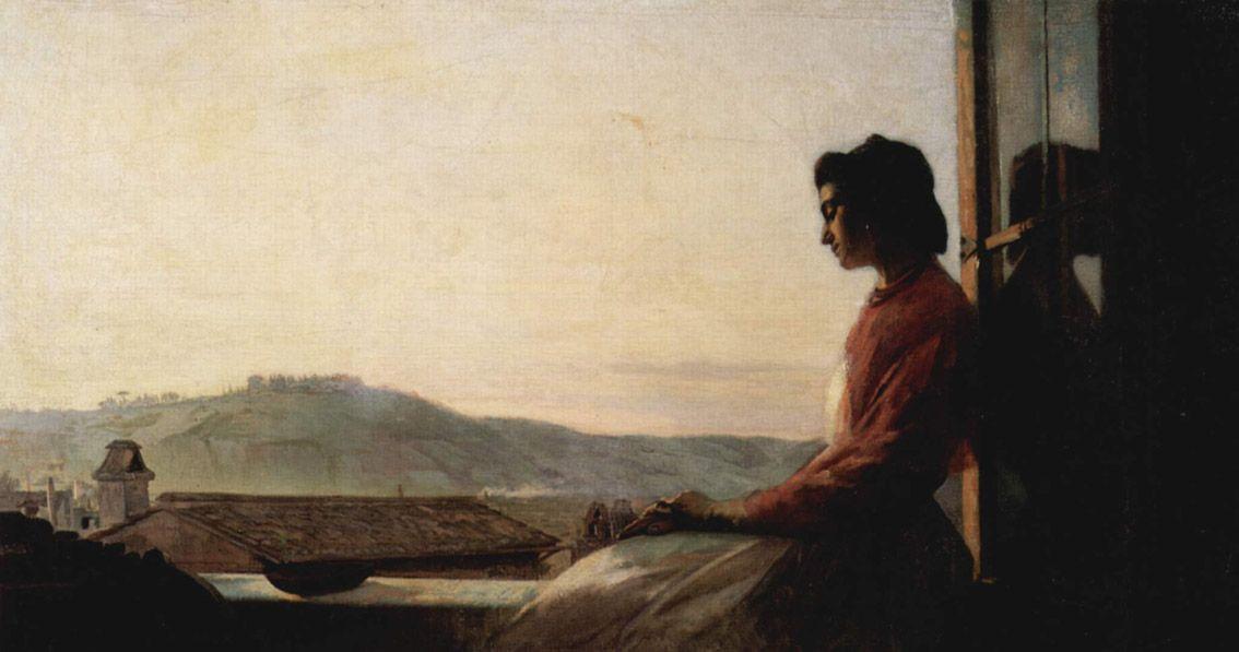 Pavel Chistyakov * Jovem à janela, 1864