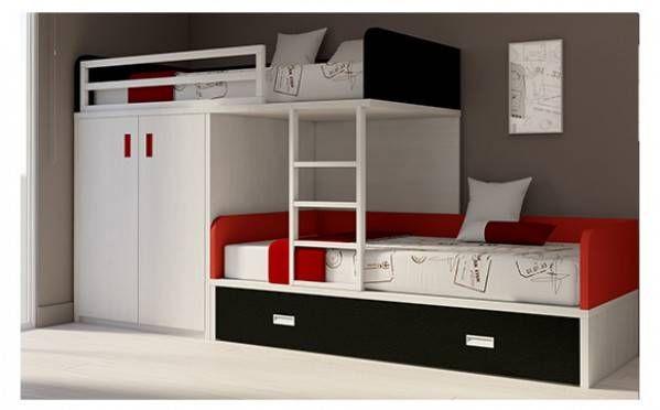 lit superpos avec une armoire et un tiroir acheter en ligne meubles ros chambre enfants