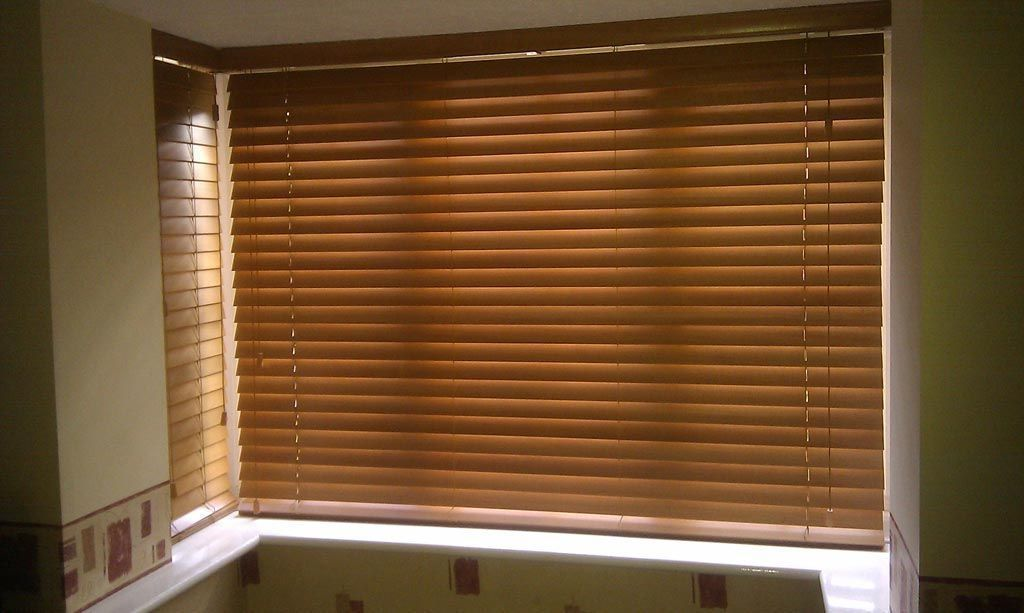 Wood Mini Blinds For Windows Blindsandcurtainsbaywindow