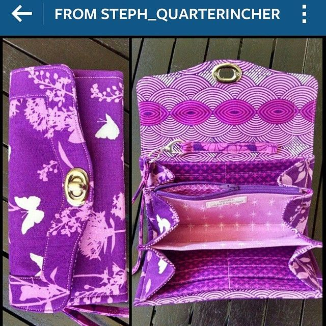 Eep! It arrived already! Using @steph_quarterincher's photo because it's too late and dark here to snap a good one myself, but it's gorgeous!  And it's been exactly a week since I sent her the fabrics - talk about FAST turnaround time! #necessaryclutchwallet #quarterincher