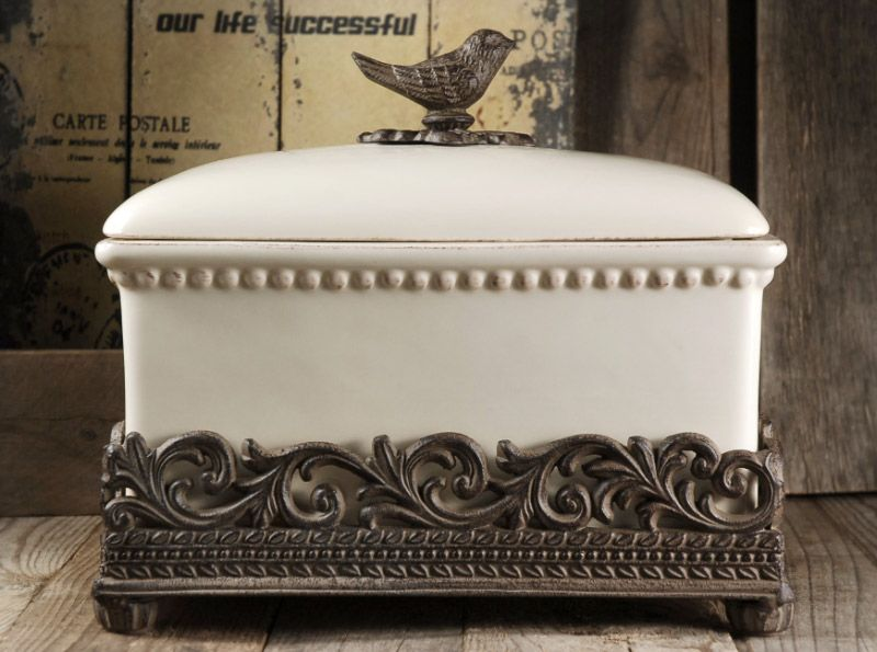 Beautiful Bread Box Ceramic Bread Box French Country Kitchen French Country Decorating