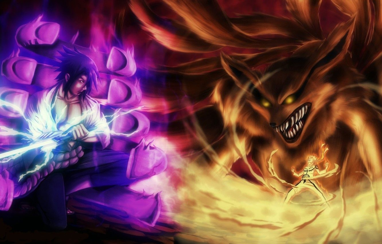 Enemies Fan Art Wallpaper Hd Naruto And Sasuke Animasi Gambar