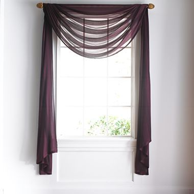 Purple valance over neutral shade for baby\'s room? | sheers ...
