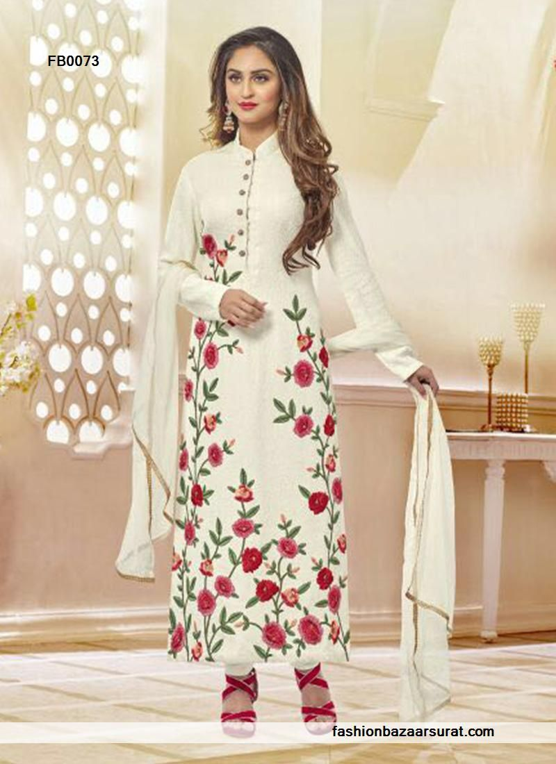 buy Observable Off White Net Designer Salwar Suit online, buy ...