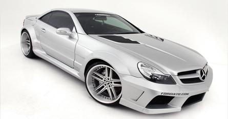Mercedes Sl Wide Body Kit On Forgiato Silver Sl55 Amg