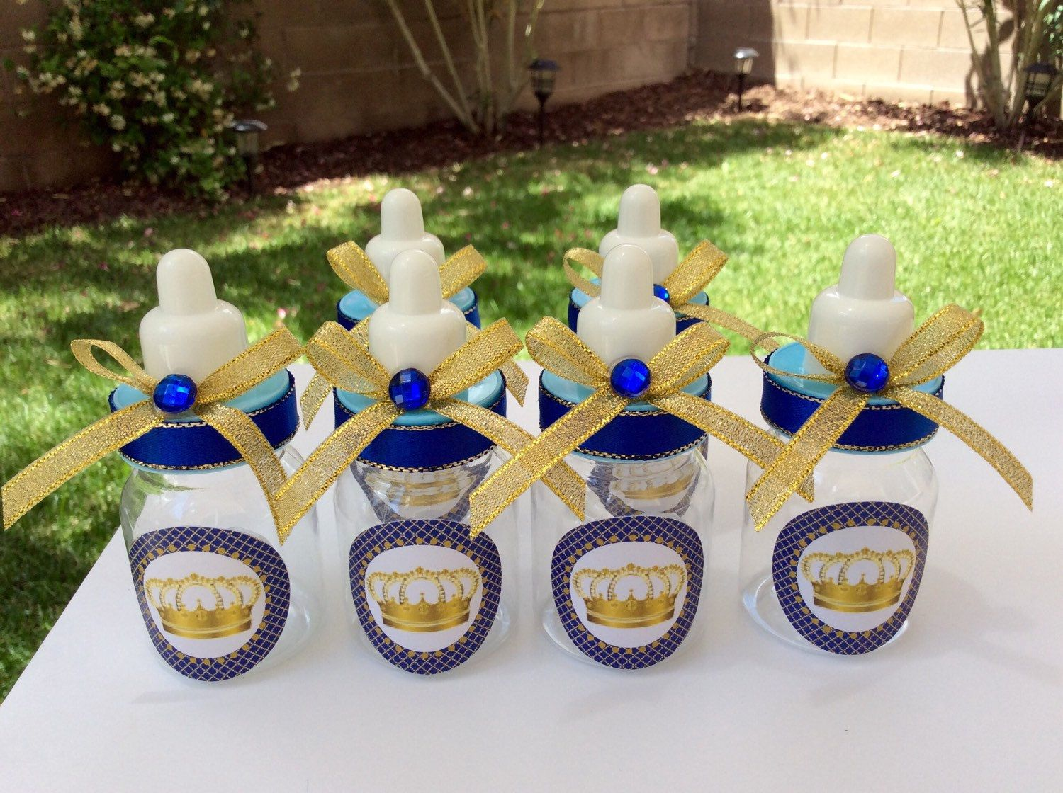 One Royal Blue Prince Baby Shower Centerpiece  Little Prince Cake Topper   Royal Blue And Gold Baby Shower  Royal Prince Baby Shower