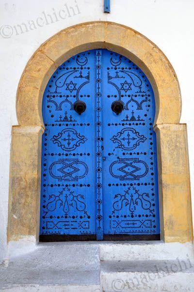 Porte d cor e sidi bou sa d sidi bou said bleu for Decoration porte sidi bou said